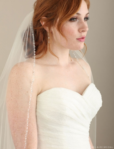Beaded Fingertip Veil 116678