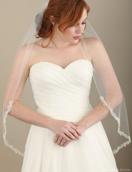 Beaded Fingertip Veil 116682