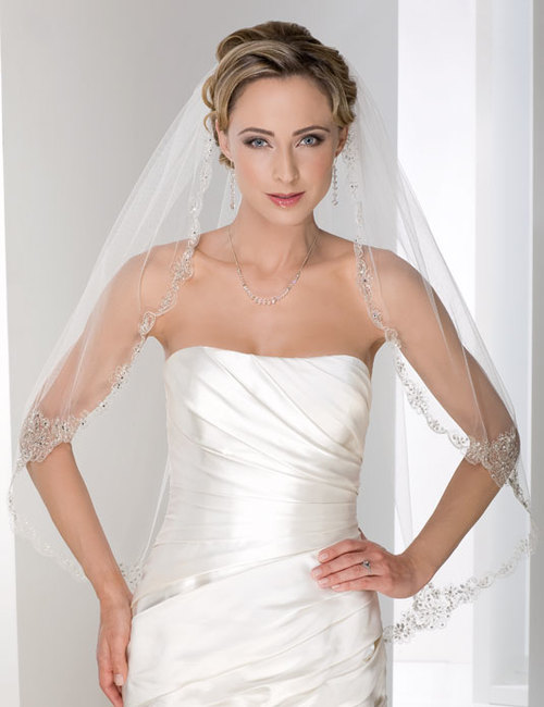 Embroidered Veil 117481