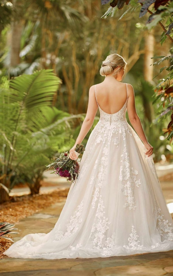 Lace Gown 119804 Back