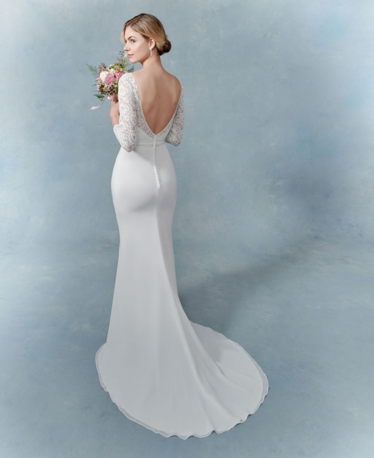 Crepe Gown 119454 Back