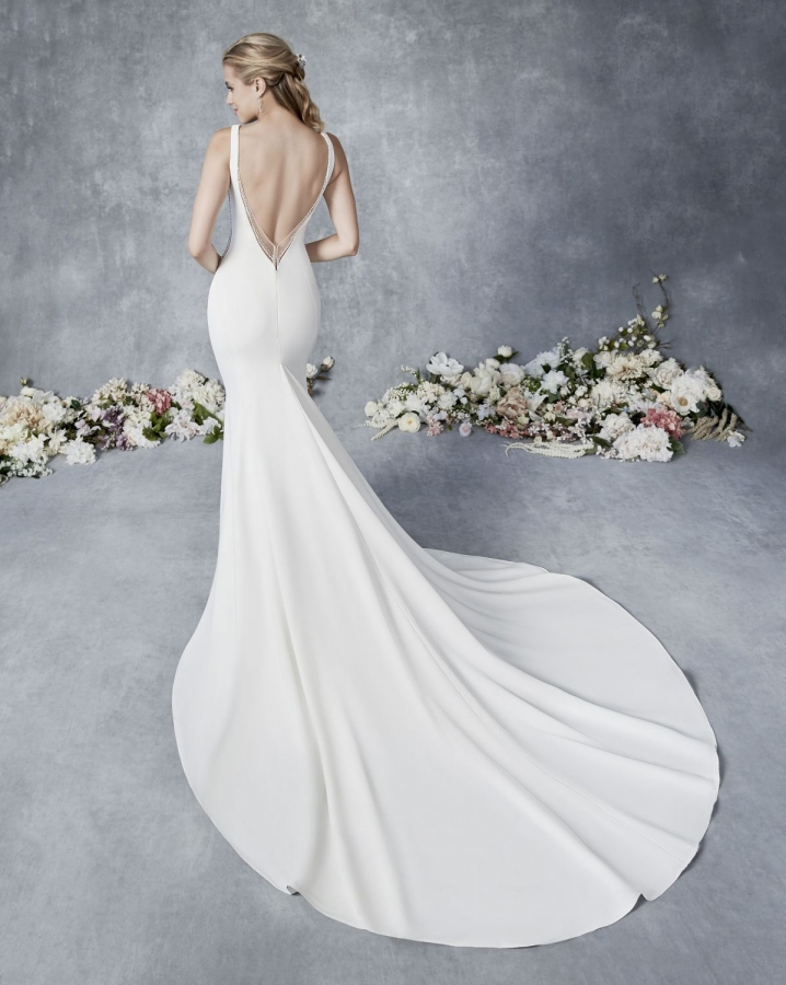 Satin Gown 119507 Back